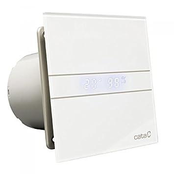 cata estrattore vetro bagno ventola da 120mm display della temperatura umidostato bianco
