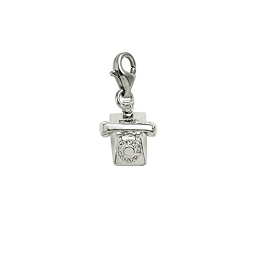 Sterling Silver Phone Charm With Lobster Claw Clasp, Charms for Bracelets and Necklaces