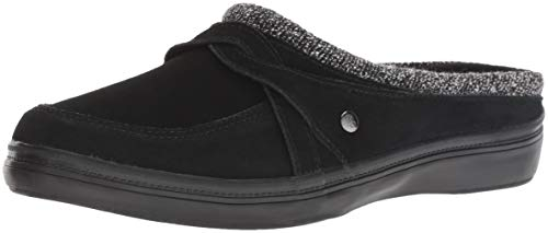 Grasshoppers Women's Cruise Mule Suede Clog, Black, 7.5 M US