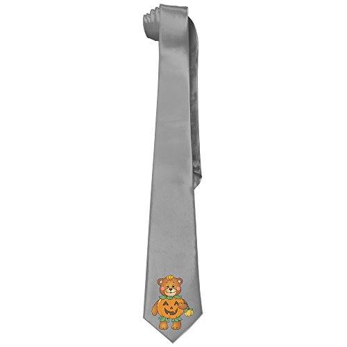 NF18G Mens Mens Collections Halloween Pumpkin Bear Necktie Ties