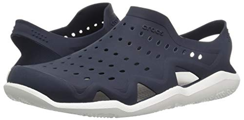 Crocs Men's Swiftwater Wave M Sport Sandal Navy/White 4 M US by Crocs (Image #6)