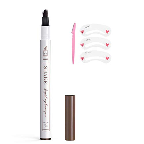 Eyebrow Pencil, Long-lasting Waterproof Eyebrow Tattoo Pen, Microblading Eyebrow Pen with a Micro-Fork Tip Applicator For Fuller Natural Looking Brows