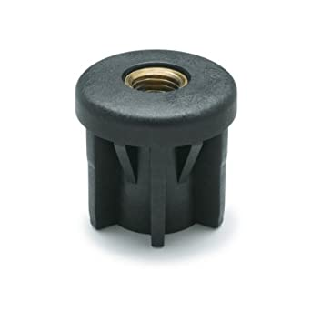 JW Winco 448D483D443M16 Series EN 448R Plastic Black Round Type Threaded Tube End with Molded-In Insert Winco Inc Metric Size 48.3mm Outside Diameter M16x 2.0 Thread Size 448-D48.3-D44.3-M16 44.3mm Inside Diameter 5500 Newton Static Load J.W