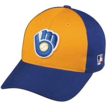 Milwaukee Brewers Youth Cooperstown Throwback Retro Officially Licensed MLB Adjustable Velcro Baseball Hat Ball Cap – DiZiSports Store