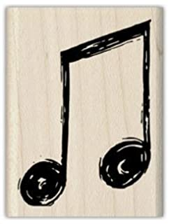 Amazon.com: Music Note Rubber Stamp – 3/4 inch x 3/4 inch: Arts ...