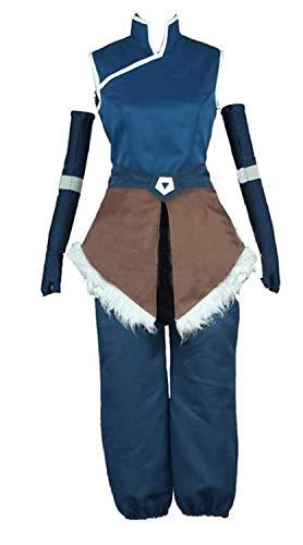 NSOKing Anime Avatar The Legend of Korra Cosplay Halloween Costumes Custom (Womens-M, Blue Set)]()
