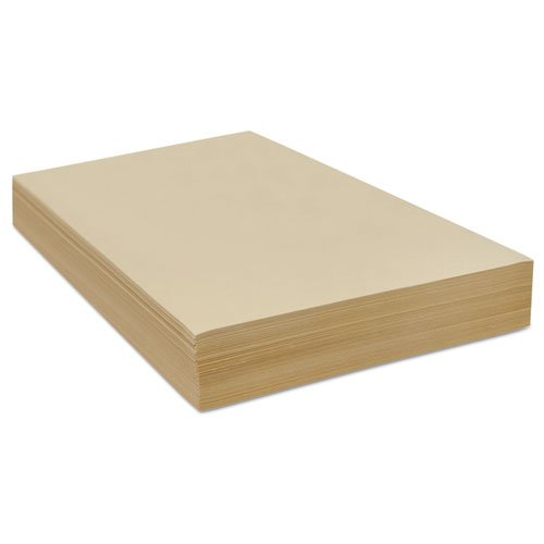 Cream Manila Drawing Paper, 50 lbs., 18 x 24, 500 Sheets/Pack, Sold as 1 Package, 500 Sheet per Package by PACON