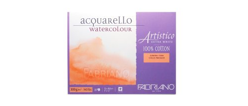 Fabriano Artistico Watercolor Extra White Block 9