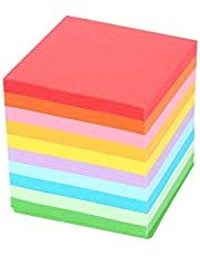 Origami Paper, 520 pcs 10 Colors Folding Paper Colorful Double Sided Origami Crane Craft Sheets DIY Folded Paper 5x5 cm