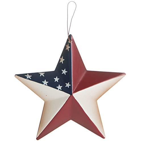 Patriotic American Flag Metal Star Ornament | Primitive Rustic Farmhouse Country Decor | Americana Gifts for Men Women Military Veterans 5