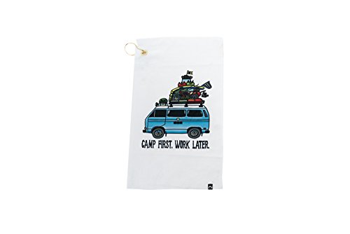 GoWesty Camp First, Work Later Vanagon Tea Towel
