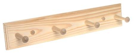 SandS Wood Handi-Rack Four Peg Unfinished Wooden Rack #HR180