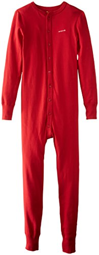 Men Flannel Thermal - Carhartt Men's Force Classic Thermal Base Layer Union Suit, Red, X-Large