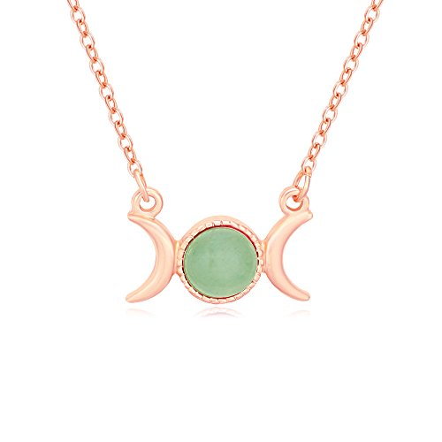 Symbol Semi-Precious Stones Pendant Necklace 18