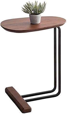 Verlaagde Prijs GWFVA massief houten salontafel, walnoot houten tv-lade, metalen frame zijtafel, stevige rustieke bruine zij-eindtafel, voor woonkamer slaapkamer naast bed bank  yI3k799