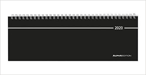 2019 Tischquerkalender 1 Woche auf 1 Seite mit Stundeneinteilung 8-18 Uhr Monats/übersicht