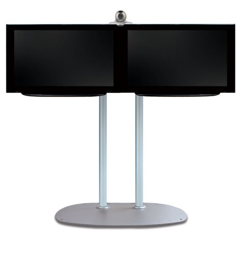 TV-Ständer Heavy Duty Farbe (Säule): Chrom, Farbe (Gestell): Silber