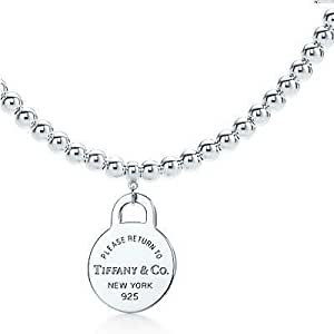 Tiffany And Co Necklace Return To Bead Silver 075