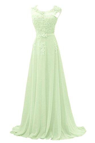 Elegant Lang Lilac festlichkleider Salbei Abendkleider Braut Promkleider Abschlussballkleider Brautmutterkleider mia La WEqnBTIT