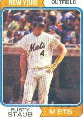 1974 Topps Baseball Card #629 Rusty Staub ()