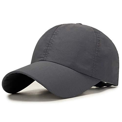 (SUJING Men Women Baseball Cap, Camouflage Snapback Hat Sun Caps Adjustable Trucker Summer Hats (Gray))