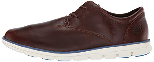 Marrón de para Glazed Ginger Hombre Oxford Sensorflex Toe Cordones Timberland Euro Bradstreet Veg Plain Zapatos qwvvXU