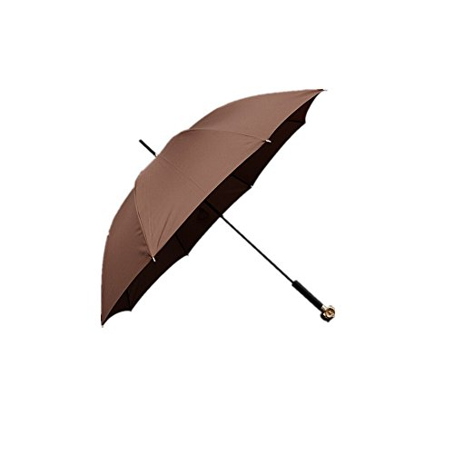 Price comparison product image Luk Oil Creative Umbrella Handle Fox Head Umbrella Long Umbrella for Men and Women Long-handled Umbrella Manual (Brown,  Owl)