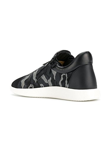 Van Giuseppe Zanotti Ontwerp Mannen Ru70052002 Wit / Zwart Doek Sneakers