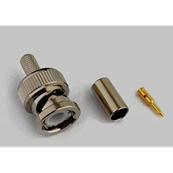 10PCS RF coaxial connector BNC male crimp for RG58 RG142 LMR195