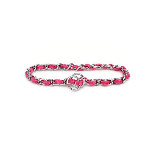Petmate by Aspen Pet Extra Heavy Pink Mighty Link Comfort Chain, 4 MM X 24INCH
