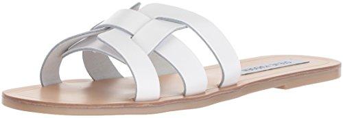 Women's M Sandal 6 Sicily White Madden Us Leather Steve fHTUaU