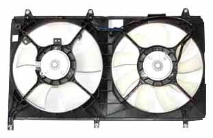TYC 621650 Mitsubishi Galant Replacement Radiator/Condenser Cooling Fan (Mitsubishi Galant Radiator Cooling Fan)