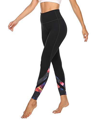 JOYSPELS Damen Leggings mit 3D Druck Muster, High Waist Sporthose Lange Yogahosen, Sport Leggins Yoga Tights