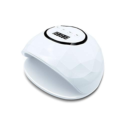Muahouse UV LED Nail Lamp - 72W LED Gel Nail Rapid Dryer with automatic sensor and 4 timers for all gel curing