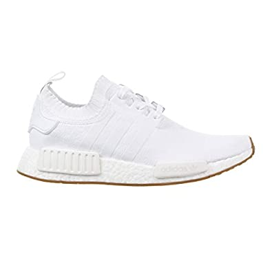 Adidas nmd r1 primeknit gomma le scarpe da uomo bianco / gomma