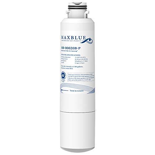Maxblue NSF 53&42 Certified DA29-00020B Refrigerator Water Filter, Replacement for Samsung HAF-CIN/EXP, DA29-00020A/B, DA97-08006A, RF28HMEDBSR, RF4287HARS RF263TEAESG RH22H9010SR, Pack of 1