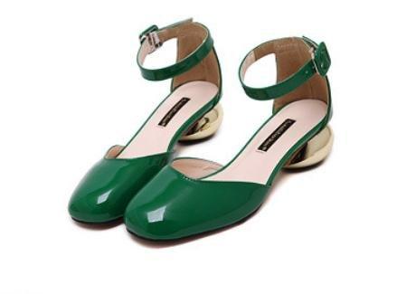 GS~LY Souliers pour dames dans une boucle en métal avec tour de tête chaussures