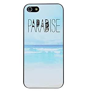 YXF PARADISE Letter Printed and Ocean Pattern PC Hard Case for iPhone 5/5S
