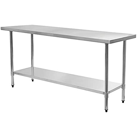Eight24hours Stainless Steel Work Prep Table Commercial Kitchen Restaurant Modern P2