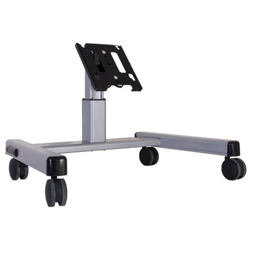 Chief MFQ6000 2' Medium Confidence Monitor Cart without Interface, Silver Confidence Monitor Cart