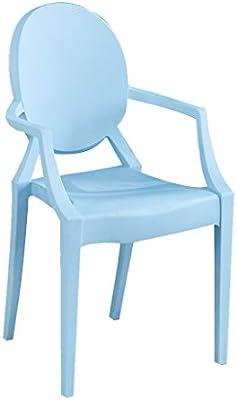 LXQGR Sillas de plástico Plegables sillas de jardín, Asiento en PP y PU, Silla con Capacidad para soportar 100 kg maxiu, Respaldo ergonómico (Color : Blue): Amazon.es: Hogar