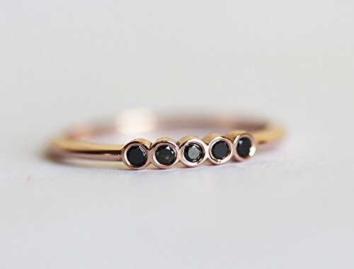 94614db0bcf5 Amazon.com  Delicate Black Diamond Wedding Ring