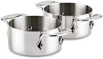 All-Clad E849A264 Stainless Steel Cocottes Silver 2-Piece 0.5-Quart