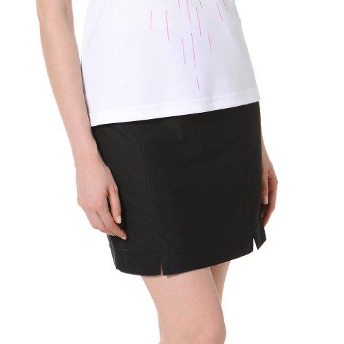 Monterey Club Ladies Dry Swing Notched Detail Honeycomb Texture Pull on Knit Skort #2855 (Black, Medium)