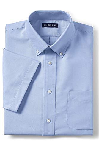 - Lands' End School Uniform Men's Short Sleeve Oxford Dress Shirt Blue