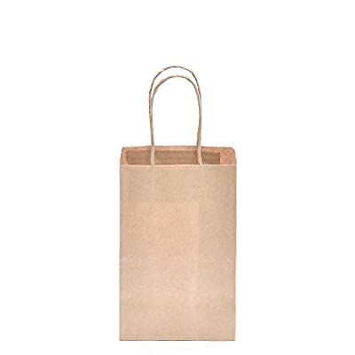 GSSUSA Kraft Paper Bags Gift Bags Shopping Bags with Handles 25pc