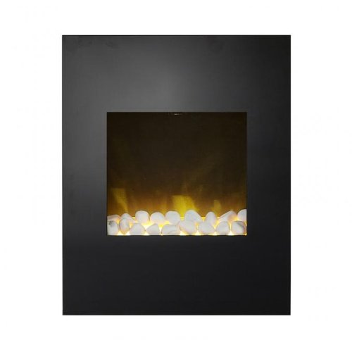 Cheap Adam Alexis Wall Mounted Electric Fire in Black Glass Black Friday & Cyber Monday 2019