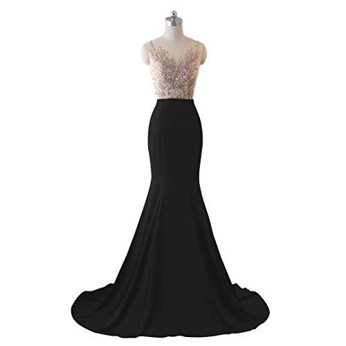 Spitze Abendkleid Stickerei Frauen Formale Lange Meerjungfrau Love 7 King's Brautkleid Pailletten 7Yqfpp