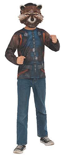 Rocket Fancy Dress Costume (Rubie's Marvel Avengers: Endgame Child's Rocket Raccoon Costume Top & Mask,)