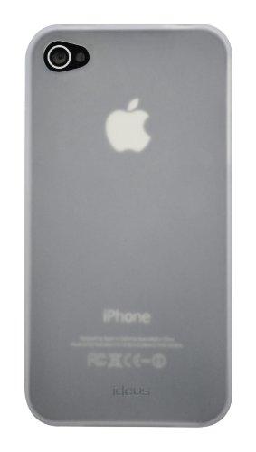 Ideus coip4stpuskw Schutzhülle für Apple iPhone 4und iPhone 4s, Weiß rauchgrau